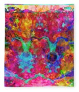 Colorful Life Fleece Blanket
