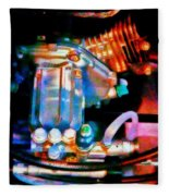 Colorful Machine In Blue And Purple Fleece Blanket