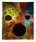 Colorful Masks Fleece Blanket