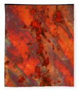 Colorful Metal Abstract With Border Fleece Blanket