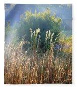 Colorful Morning Marsh Fleece Blanket