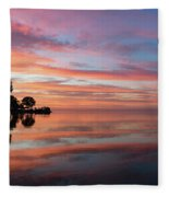 Colorful Morning Mirror - Spectacular Sky Reflections At Dawn Fleece Blanket