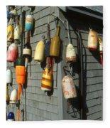 Colorful New England Buoys Fleece Blanket