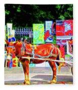 Colorful New Orleans Fleece Blanket
