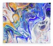 Colorful Night Dreams 5. Abstract Fluid Acrylic Painting Fleece Blanket