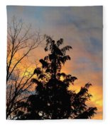 Colorful Nightfall Fleece Blanket