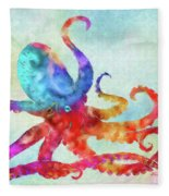 Colorful Octopus Fleece Blanket