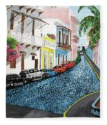 Colorful Old San Juan Fleece Blanket
