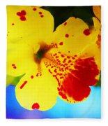 Colorful Pansies Fleece Blanket
