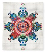 Colorful Pattern Art - Color Fusion Design 3 By Sharon Cummings Fleece Blanket