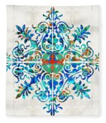 Colorful Pattern Art - Color Fusion Design 5 By Sharon Cummings Fleece Blanket