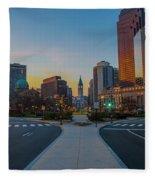 Colorful Philadelphia Morning Fleece Blanket