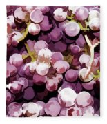 Colorful Pink Tasty Grapes In The Basket Fleece Blanket