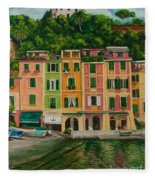 Colorful Portofino Fleece Blanket