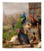 Colorful Poultry Fleece Blanket