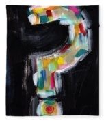 Colorful Questions- Abstract Painting Fleece Blanket