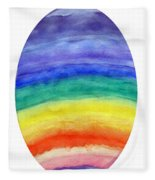 Colorful Rainbow Colored Egg Fleece Blanket