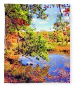 Colorful Reflections Fleece Blanket