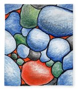 Colorful Rock Abstract Fleece Blanket