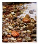 Colorful Rocks With Waterfall Fleece Blanket