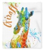 Colorful Safari Animals D Fleece Blanket