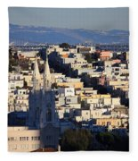 Colorful San Francisco Fleece Blanket