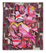 Colorful Scrap Metal Fleece Blanket