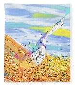 Colorful Seagull Fleece Blanket
