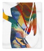 Colorful Shape Fleece Blanket