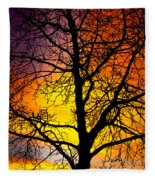 Colorful Silhouette Fleece Blanket