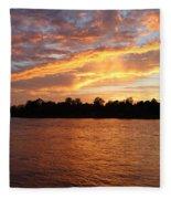Colorful Sky At Sunset Fleece Blanket