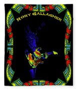 Colorful Slide Playing By Rory Fleece Blanket