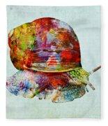 Colorful Snail Art  Fleece Blanket