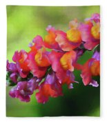 Colorful Snapdragon Fleece Blanket