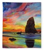 Colorful Solitude Fleece Blanket