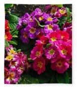 Colorful Spring Primrose By Kaye Menner Fleece Blanket