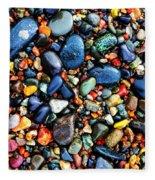 Colorful Stones I Fleece Blanket