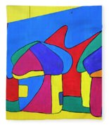 Colorful Street Art Fleece Blanket