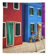 Colorful Street Fleece Blanket