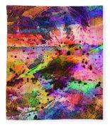Colorful Sunset Debris  Fleece Blanket