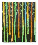 Colorful Trees Fleece Blanket