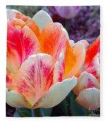 Colorful Tulips Fleece Blanket