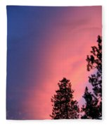 Colorful Twilight Time Fleece Blanket