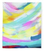 Colorful Uprising 4 - Abstract Art By Linda Woods Fleece Blanket