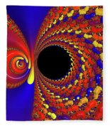 Colorful Vortex Fleece Blanket
