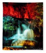 Colorful Waterfall Fleece Blanket