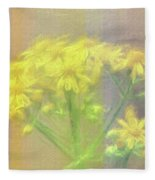 Colorful Wildflower Bouquet Fleece Blanket