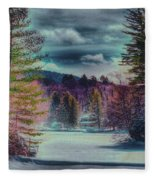 Colorful Winter Wonderland Fleece Blanket