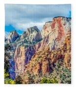 Colorful Zion Canyon National Park Utah Fleece Blanket