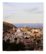 Colorfusk Dusk Sky Over A Typical Mexican Town Fleece Blanket